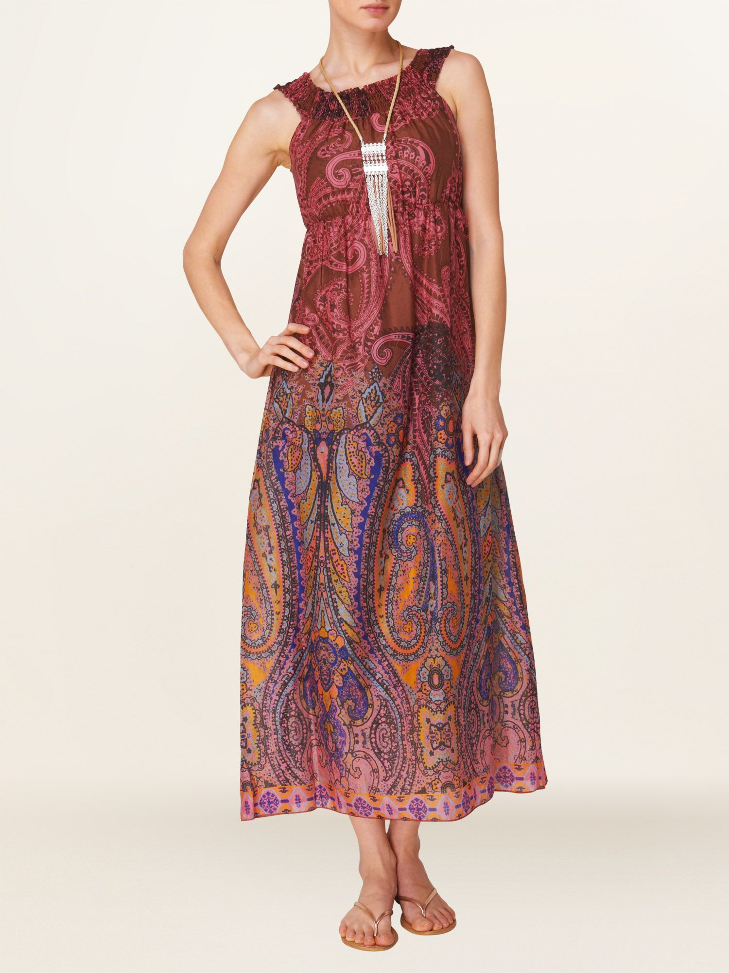 Ibiza cotton maxi dress