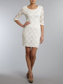 Luxe lace layer dress