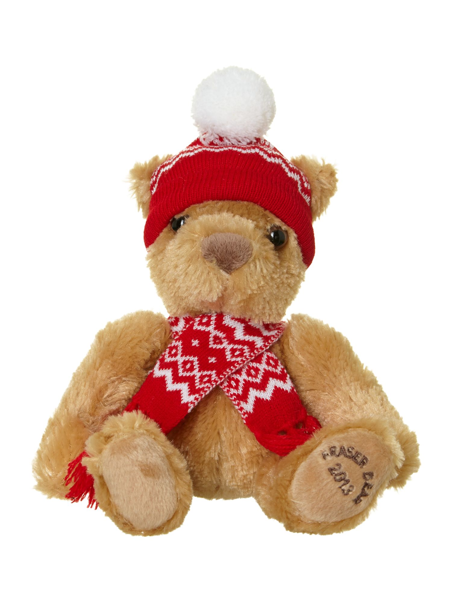 6 inch Fraser bear with hat and scarf