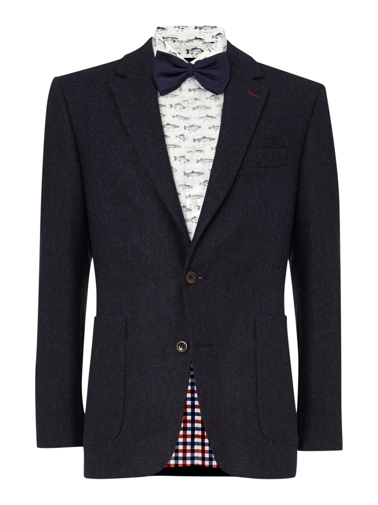 Harcourt Tweed Patch Pocket Blazer