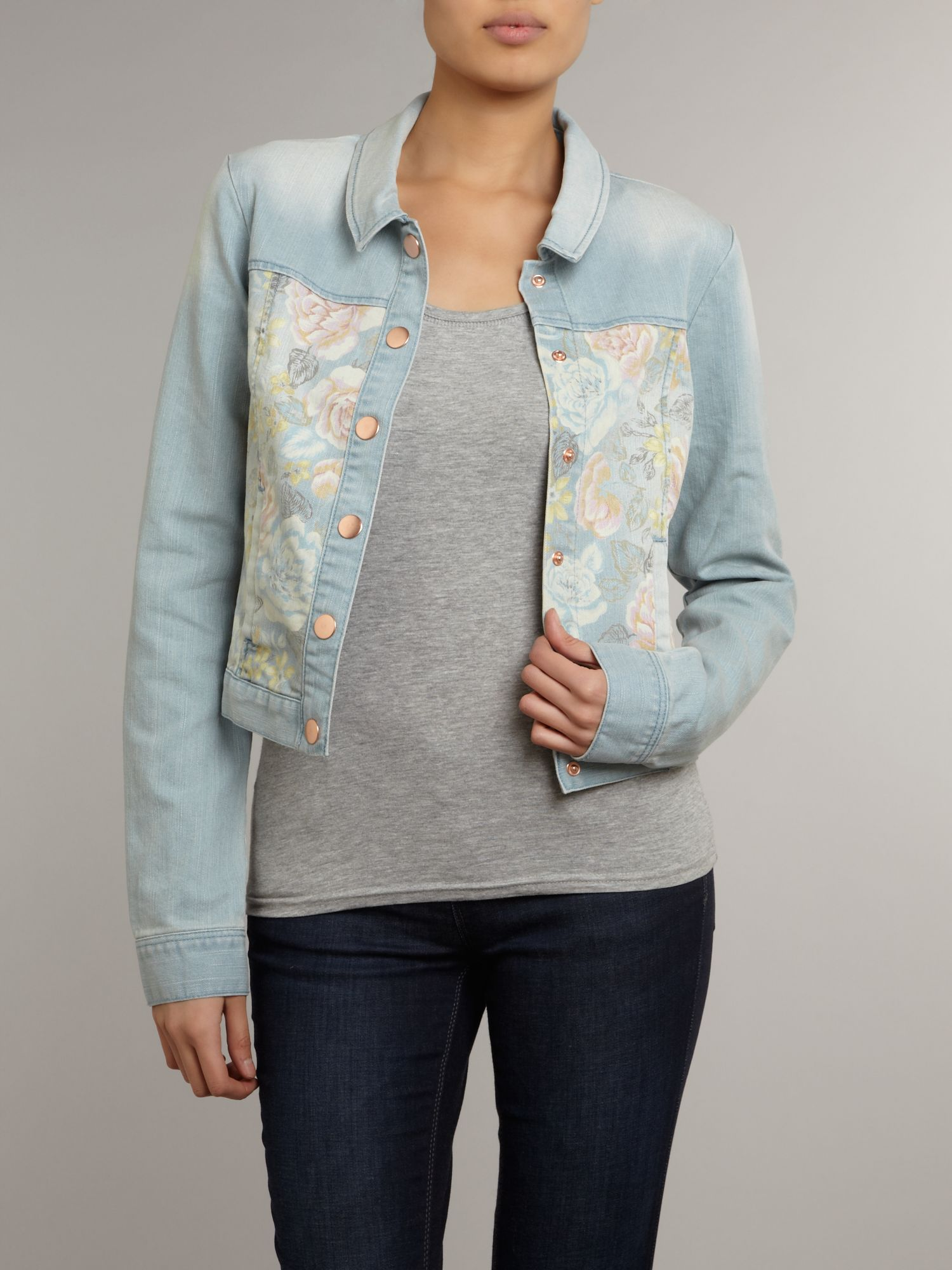 Denim patterned jacket