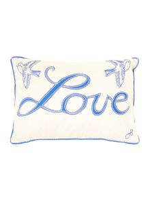 China blue love cushion