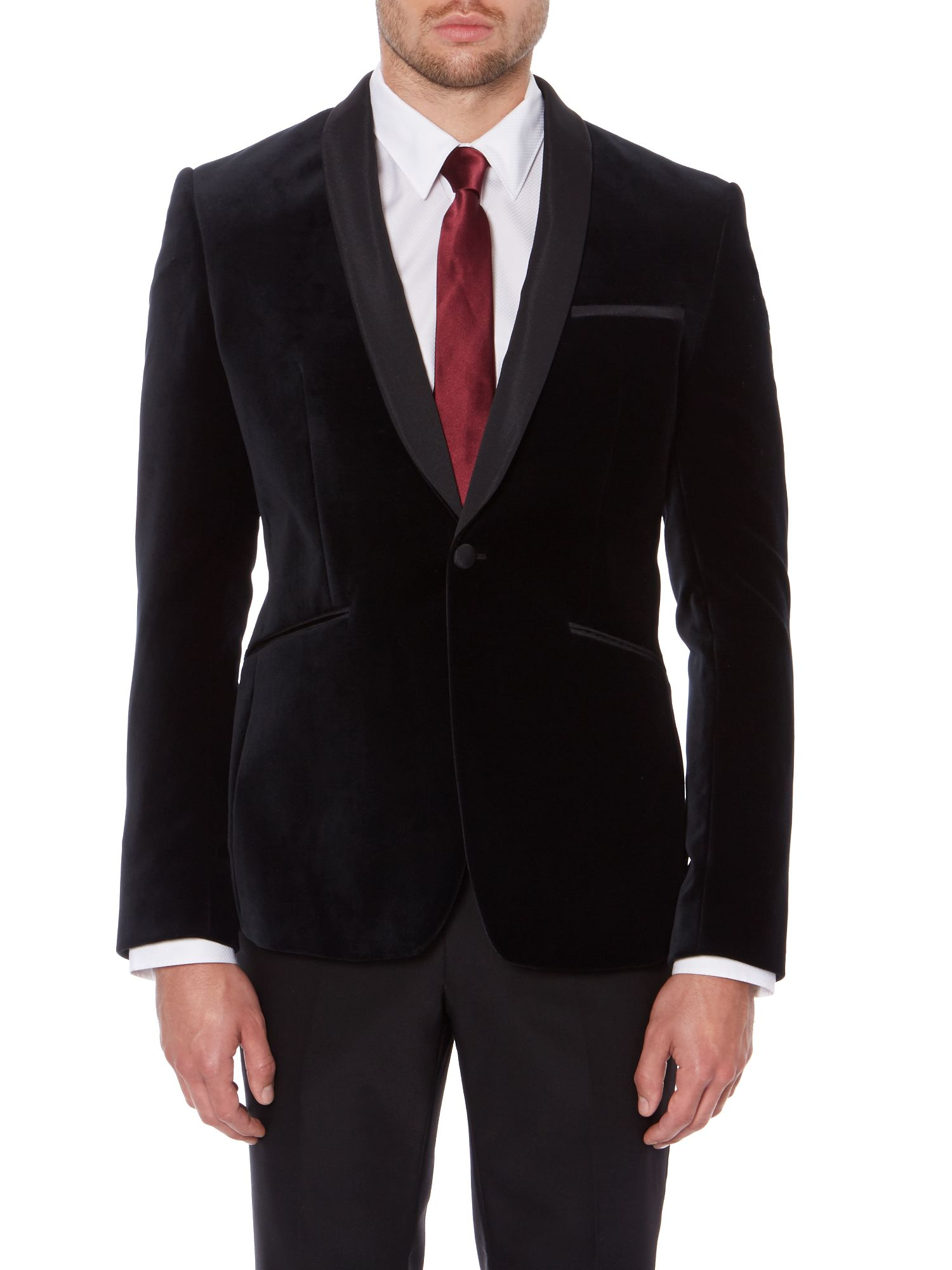 Turnley Velvet Shawl Collar Blazer