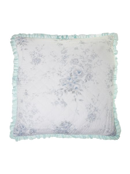 Shabby Chic Blue rose quilted sham