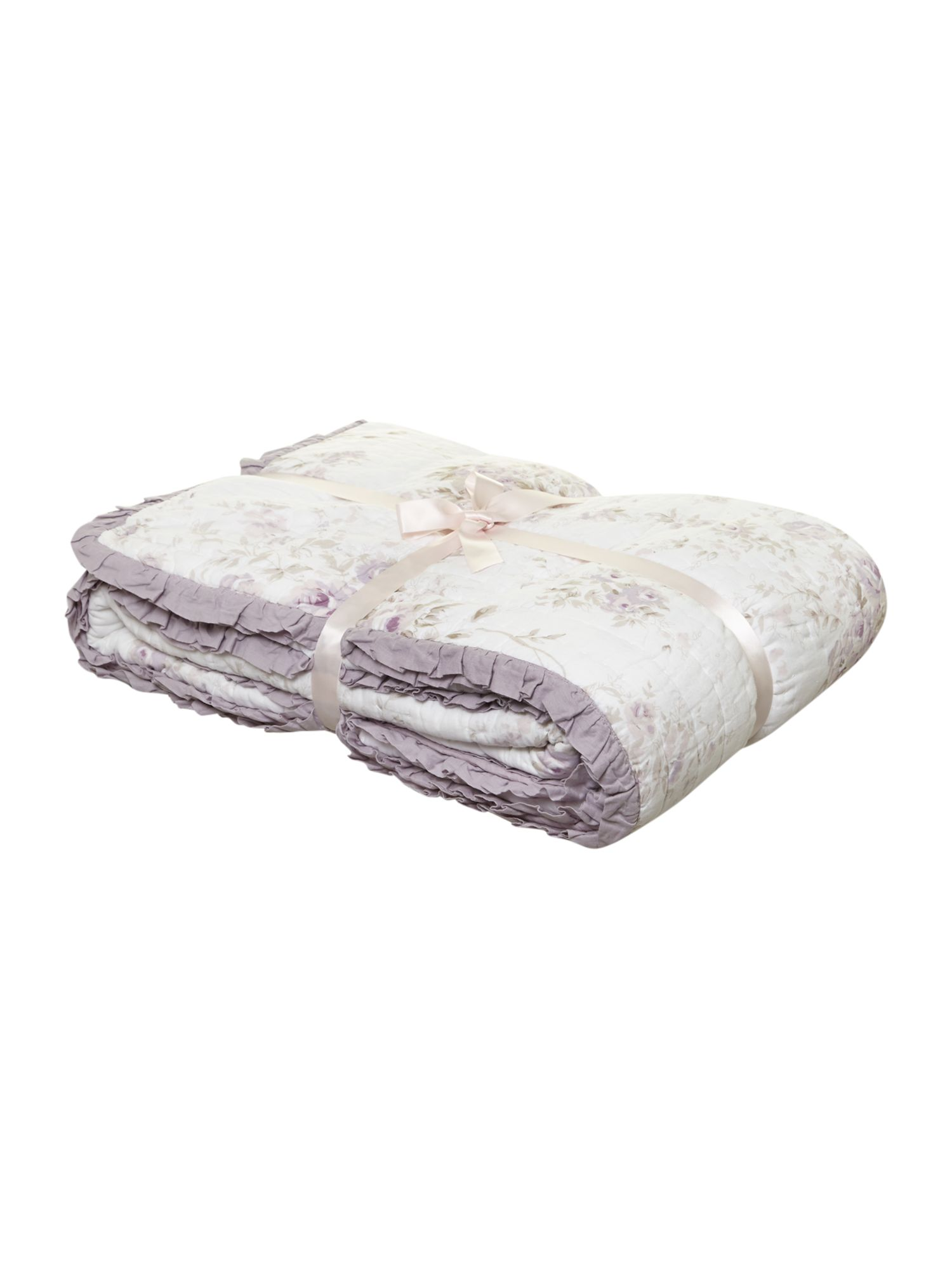 Lilac rose quilted bedspread