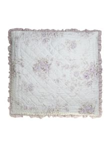 Lilac rose quilted sham cover