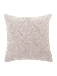 Shabby Chic Grey velvet cushion