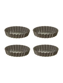 Linea Set of 4 flan pans