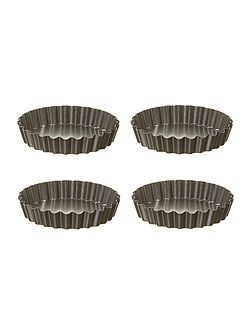 Set of 4 flan pans