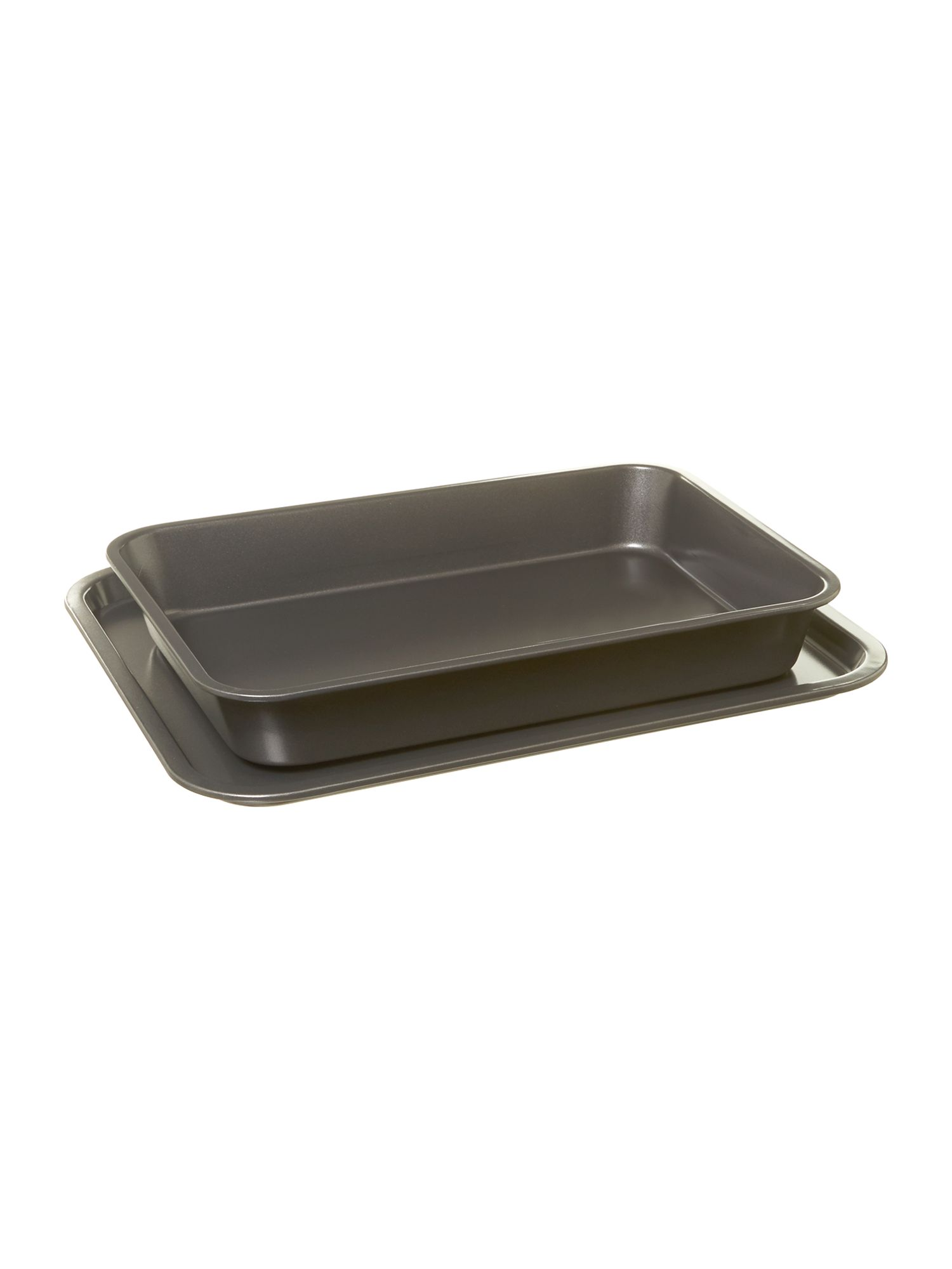 Two piece baking tray set