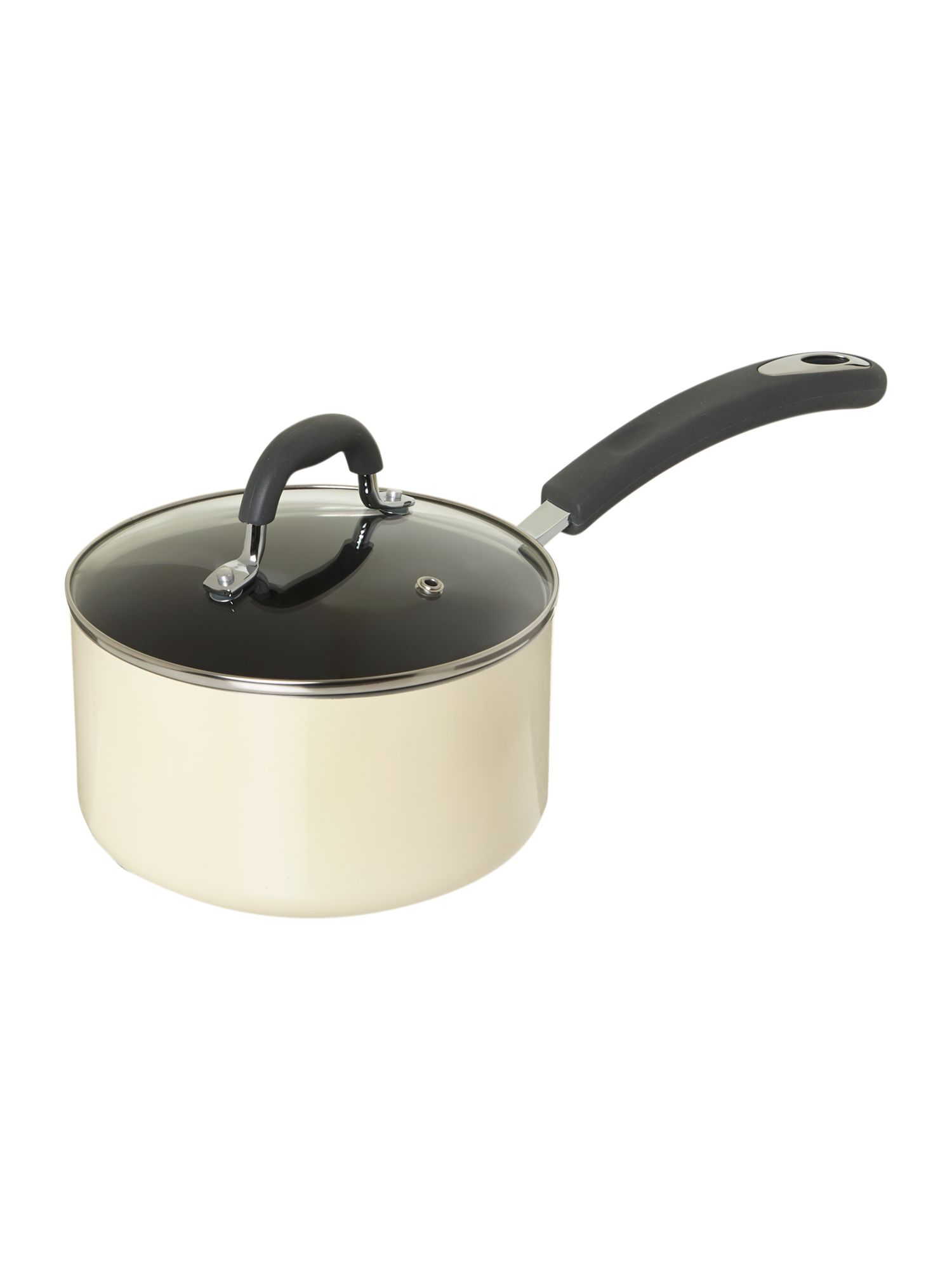 Cream Principle saucepan, 18cm
