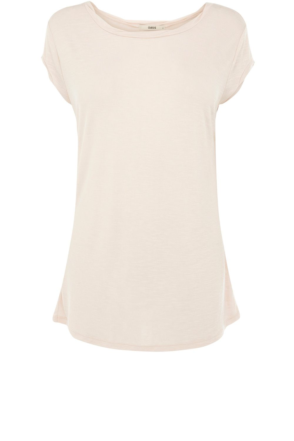 Oasis Basic twist neck tee, Pink