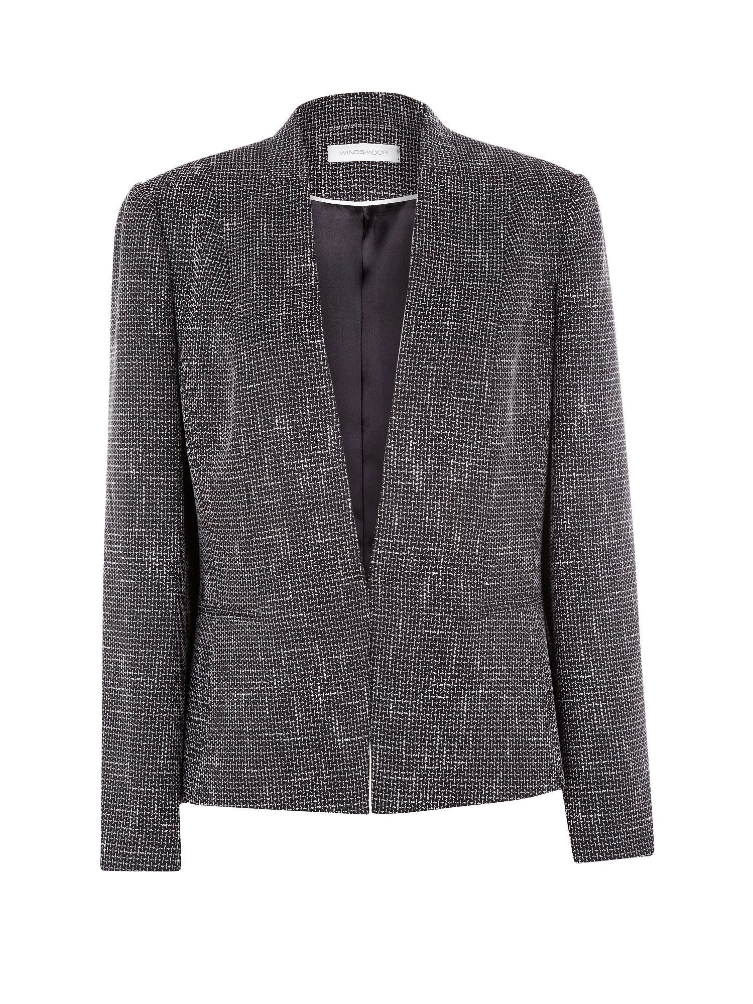 Black and white tweed jacket