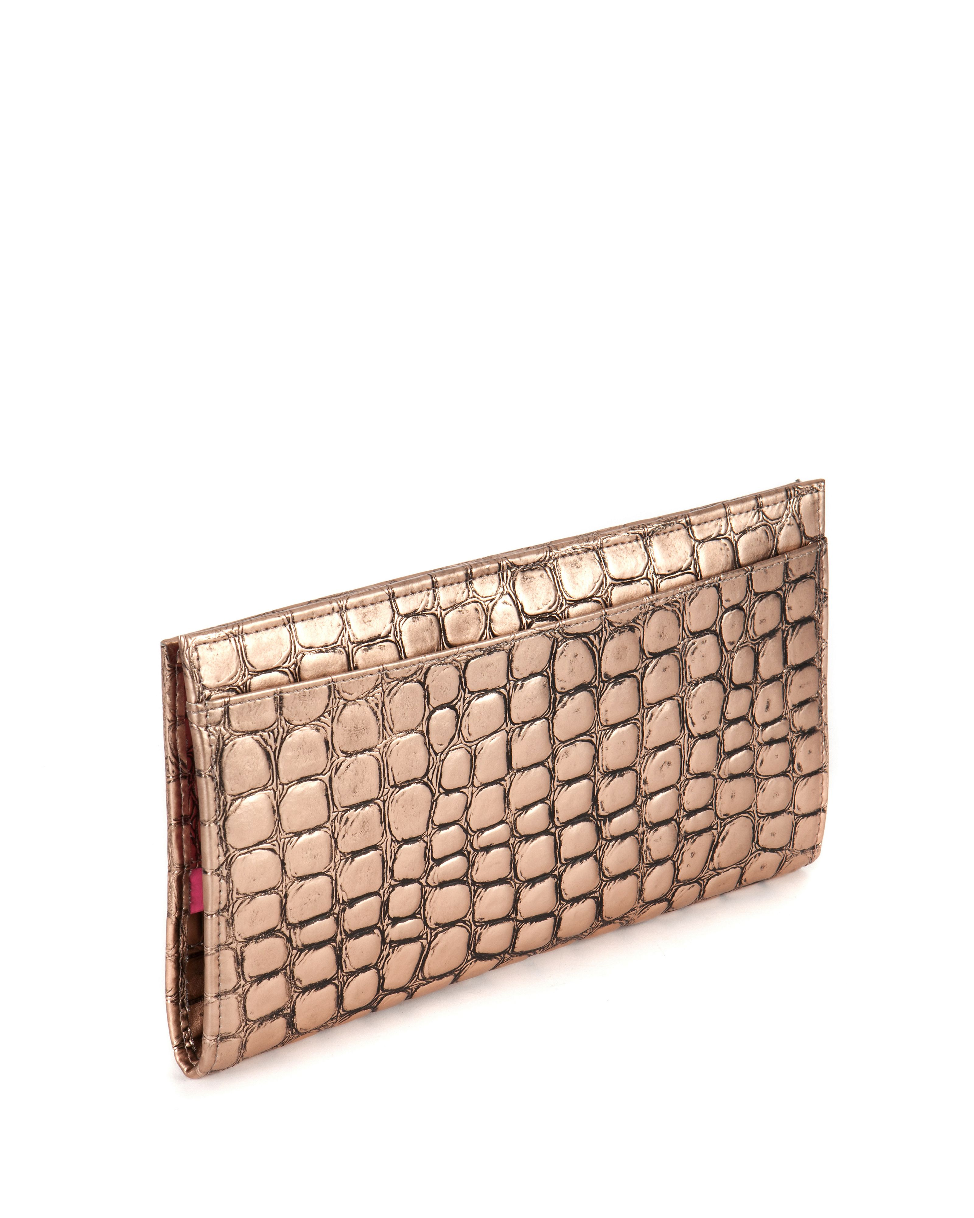 Bronbey croc effect travel purse