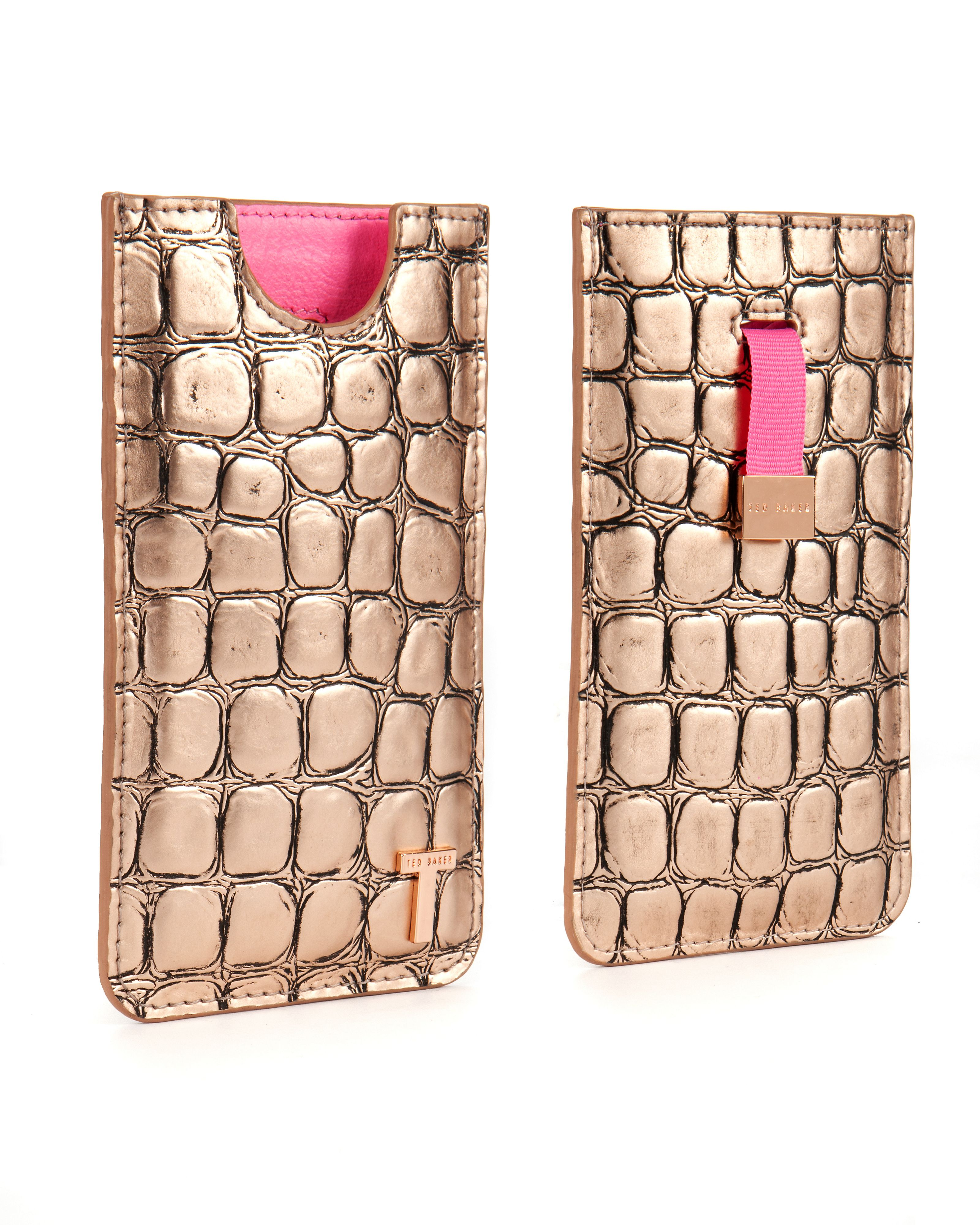 Rhea Croc effect iPhone case
