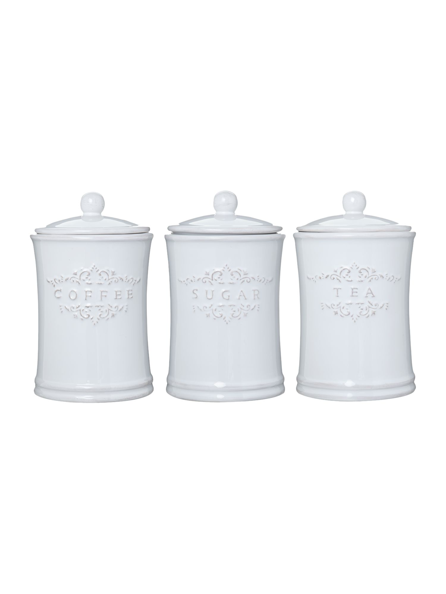 Elise set of 3 storage jars