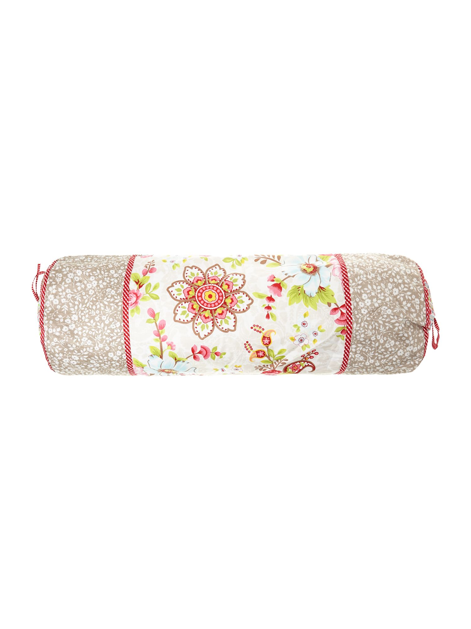 Flowers in the Mix bolster cushion