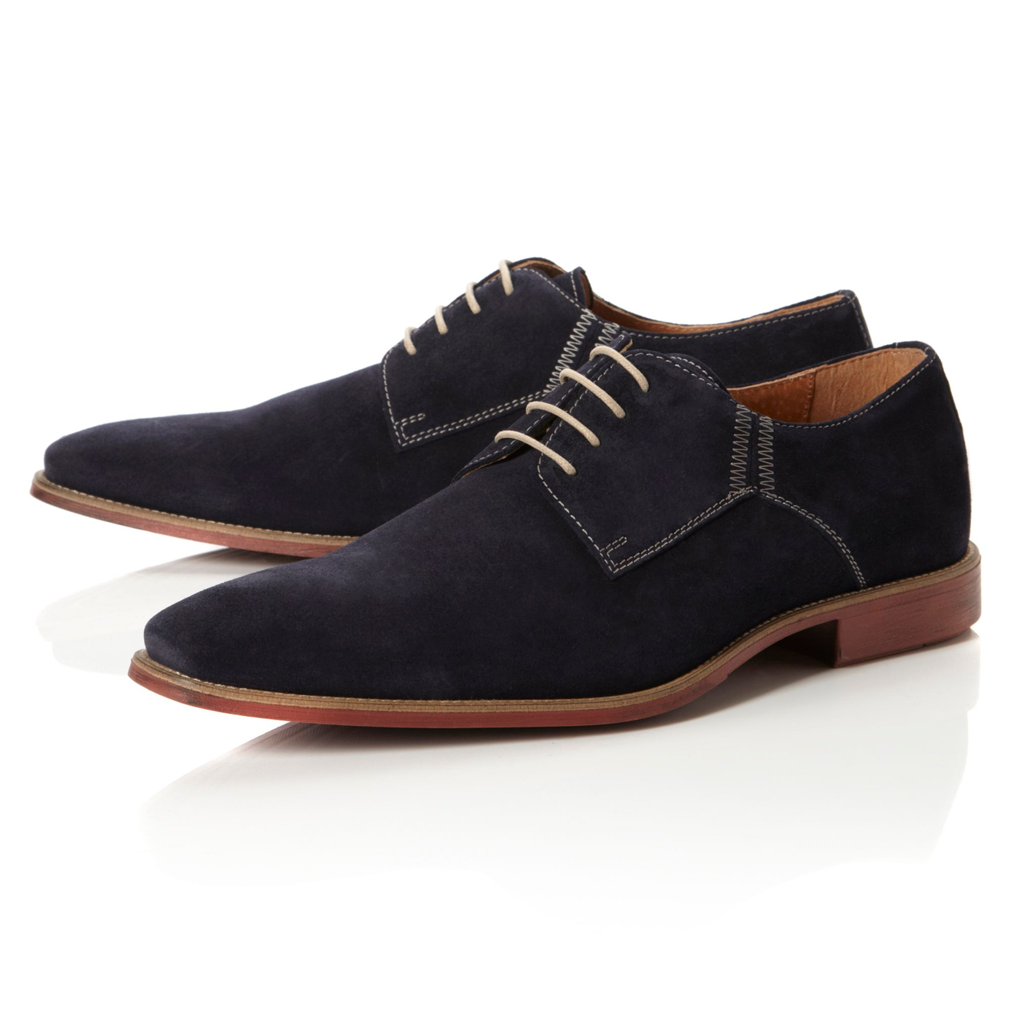 Belgravia contrast stitch chisel shoes