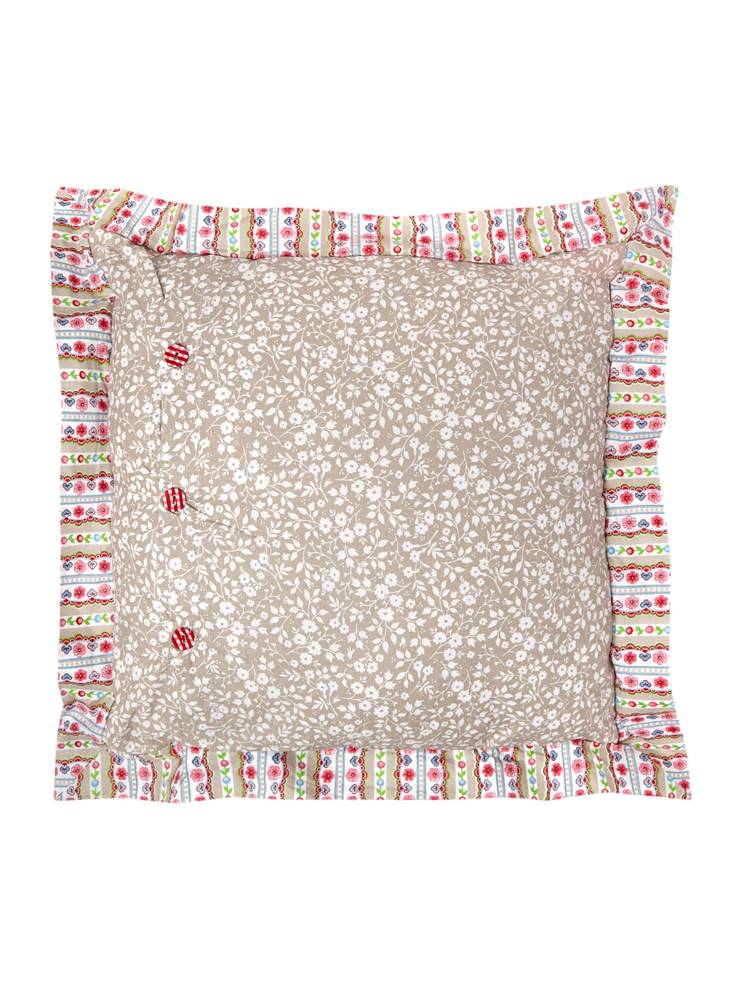 Flowers in the Mix square cushion