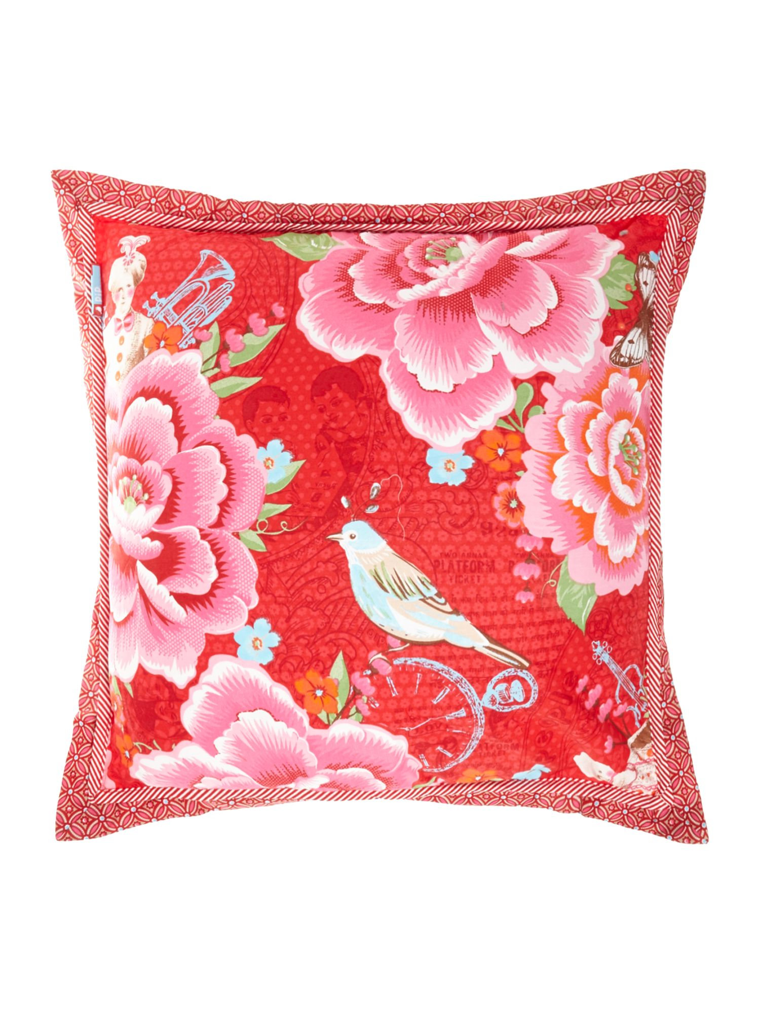 Mumbai Express cushion red
