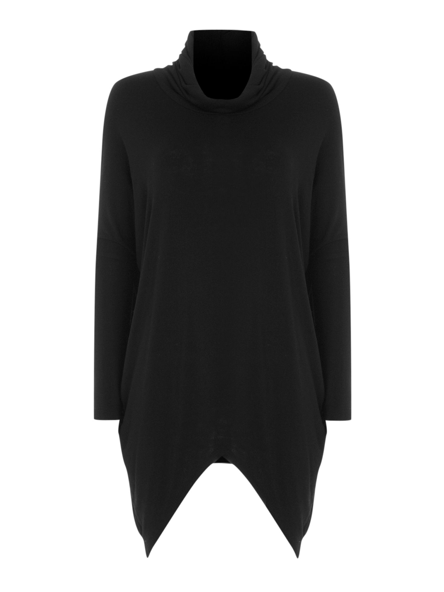 Slouch polo neck jersey knit jumper