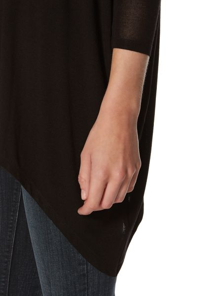 Label Lab Slouch polo neck jersey knit jumper