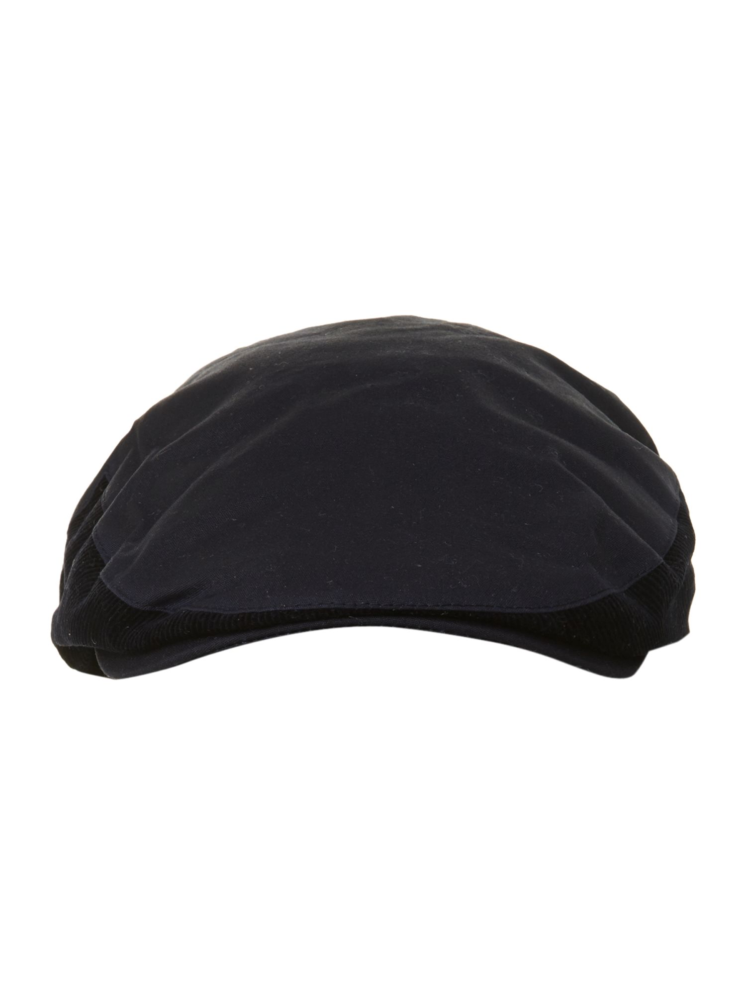Wax flatcap with corduroy trim