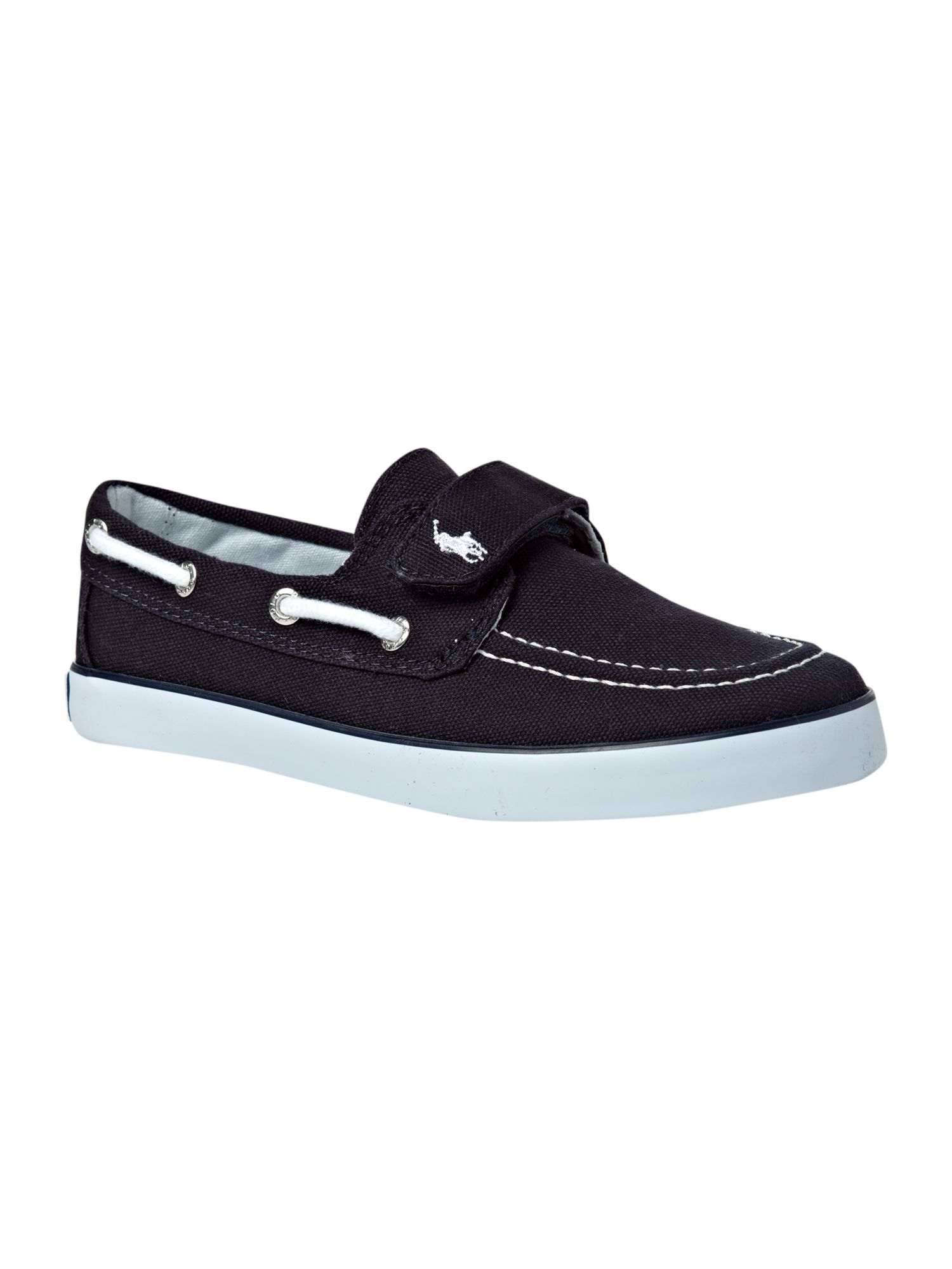 Boy`s canvas velcro deck shoe