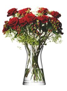 LSA Mixed bouquet vase, clear, 29cm