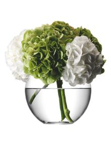 Round bouquet vase, clear, 22cm