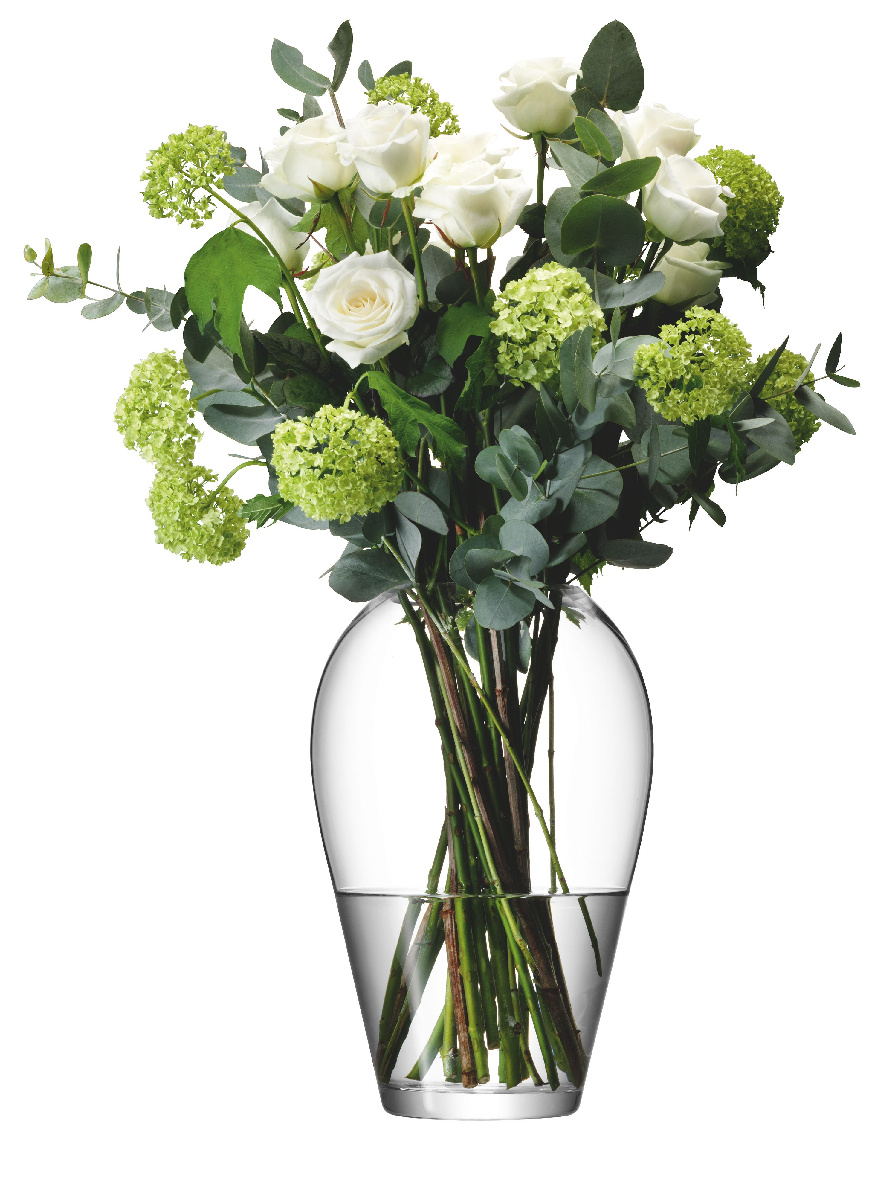 Grand bouquet vase, clear, 35cm