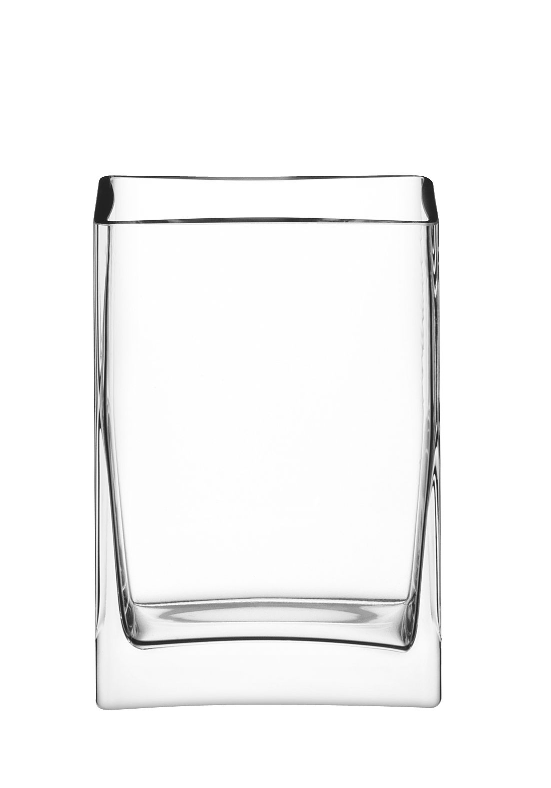 Rectangular bunch vase, clear, 22cm