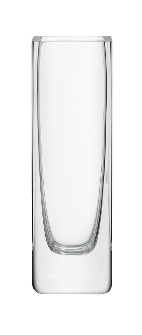 Rectangular stem vase, clear, 19cm