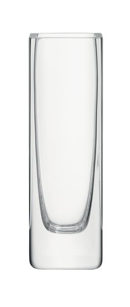 LSA Rectangular stem vase, clear, 19cm