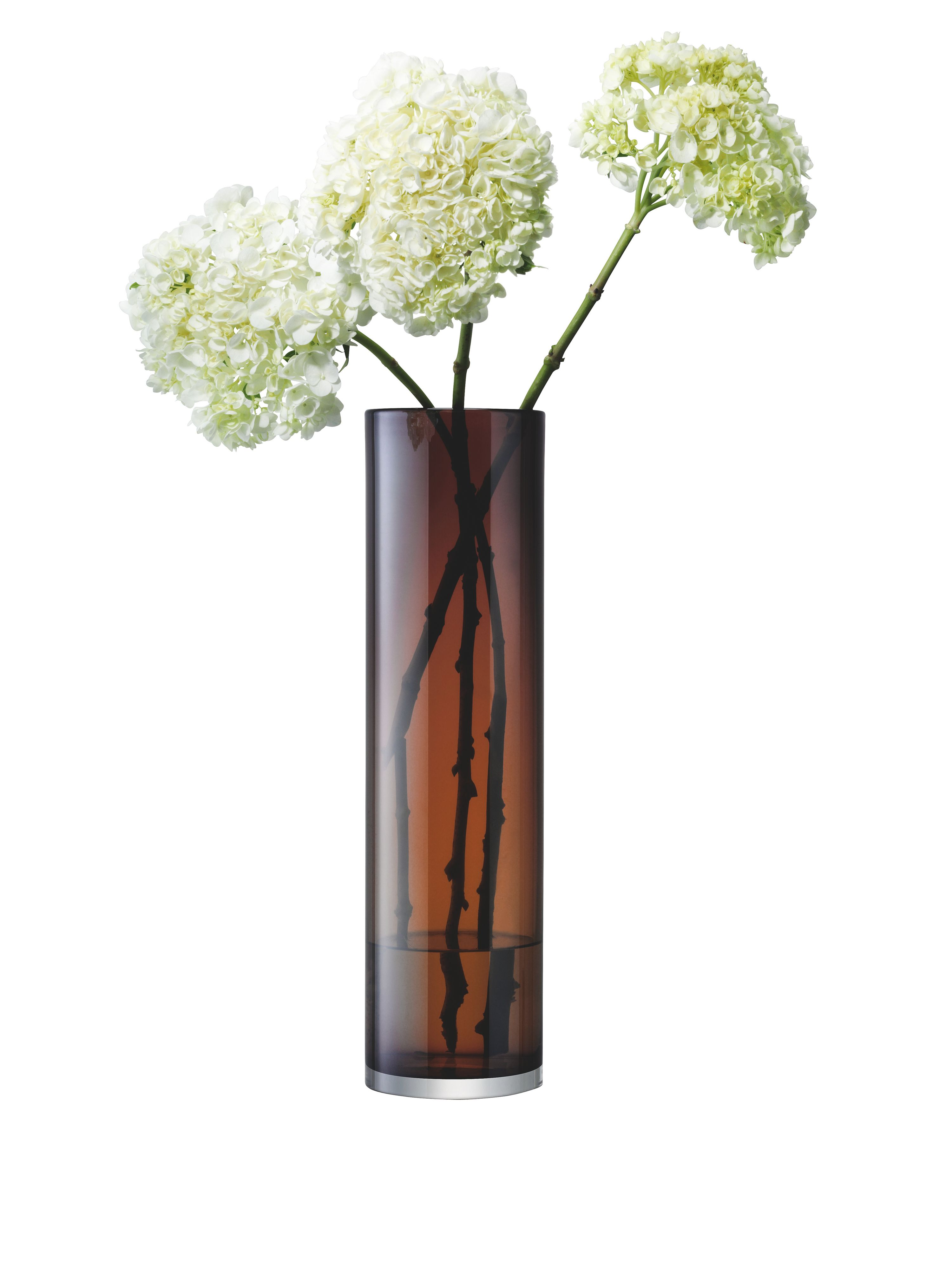 Inza vase, chocolate brown, 45cm