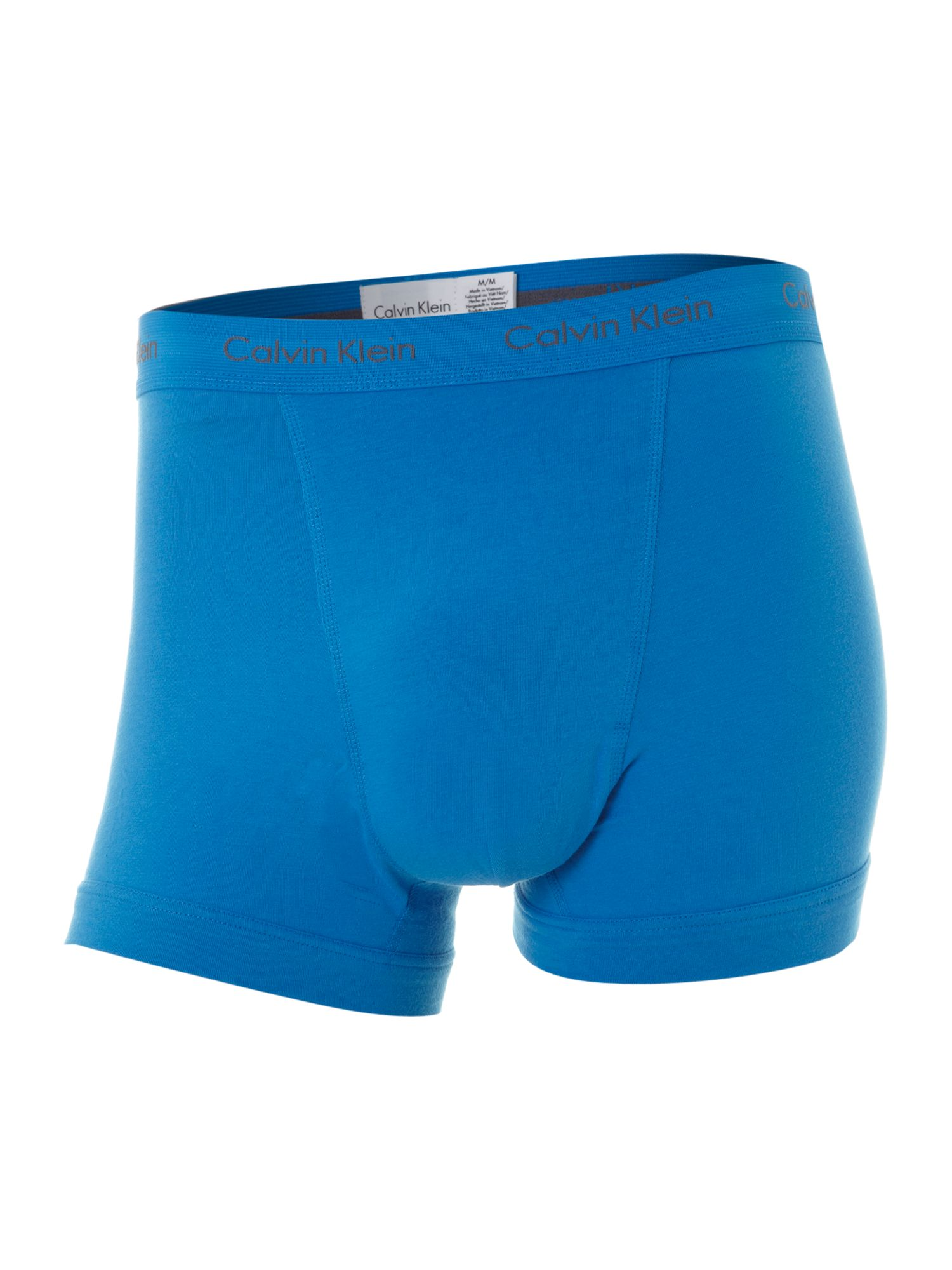 3 pack block colour underwear trunk