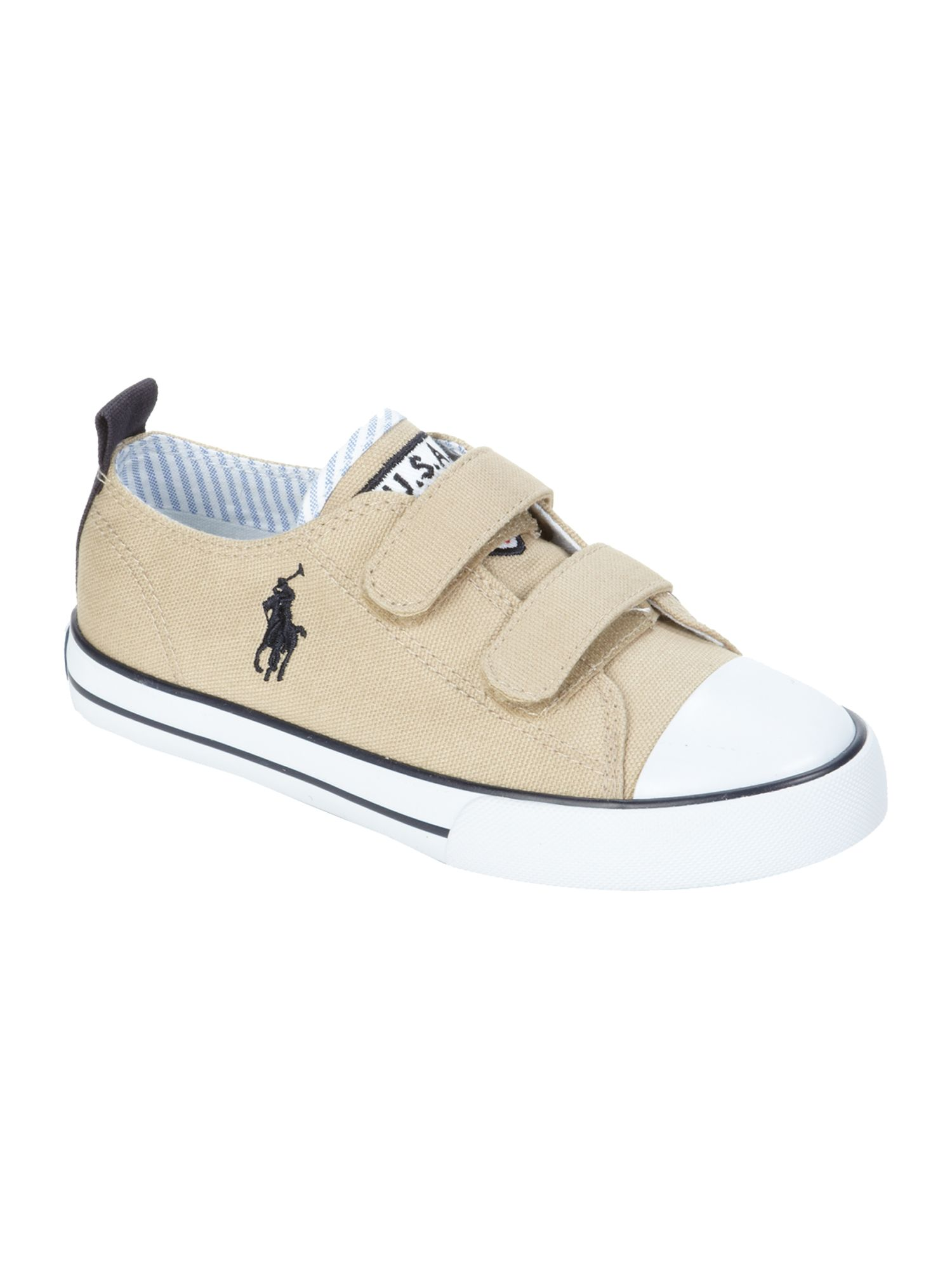Boy`s canvas velcro plimsole