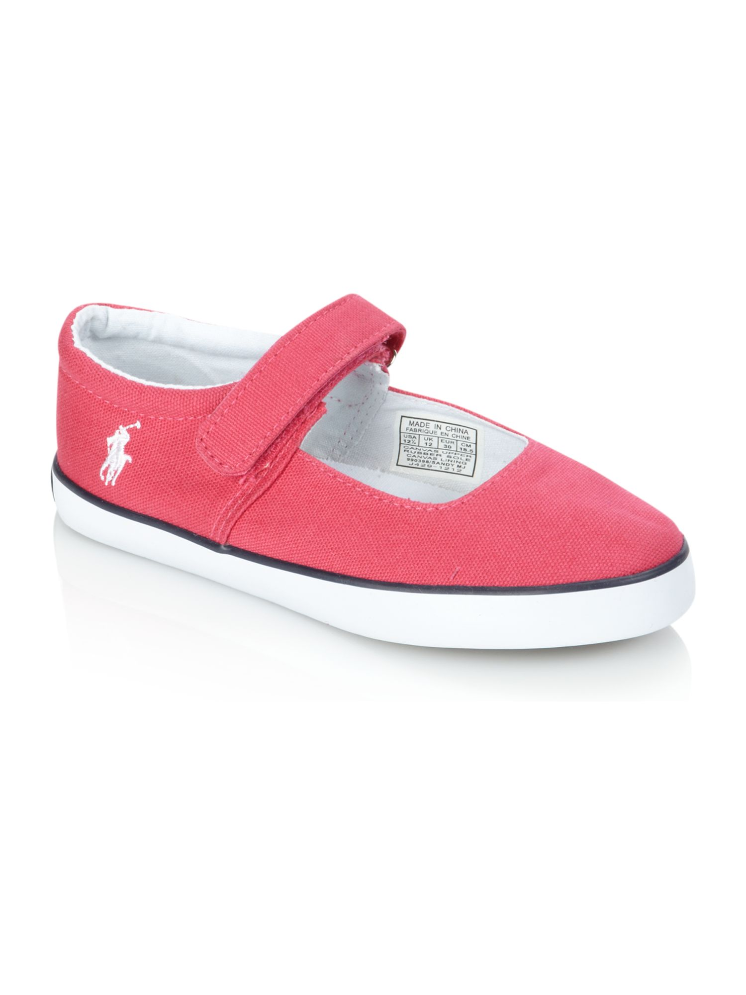 Girl`s canvas Mary Jane style shoes