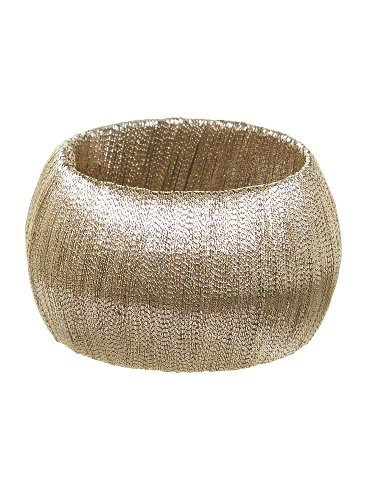 Metallic thread napkin ring