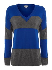 Stripe cash blend jumper