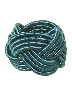 Knot napkin ring teal