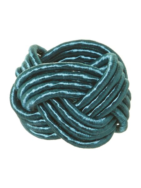 Pied a Terre Knot napkin ring teal