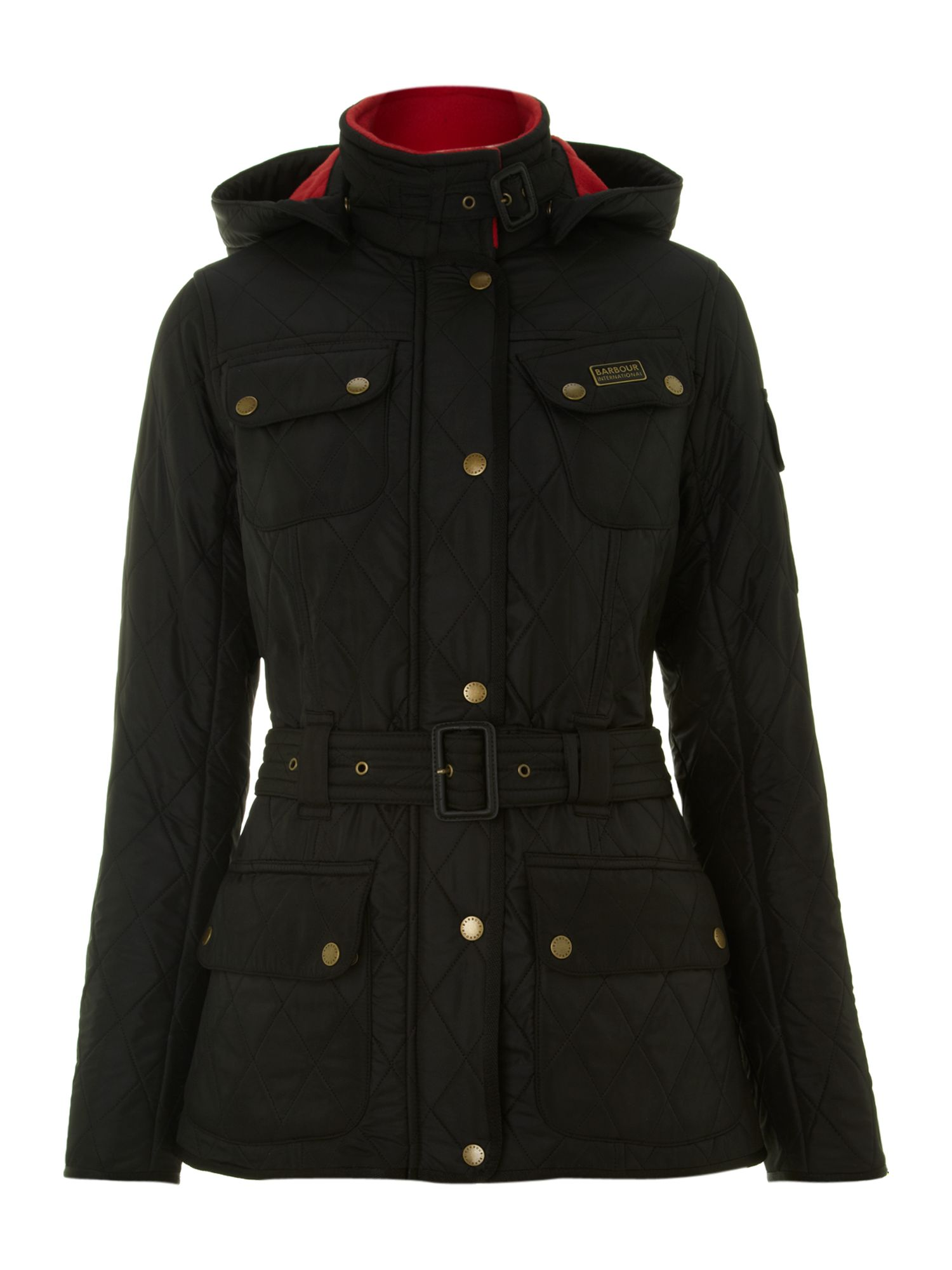 Barbour Viper international jacket with hood Black