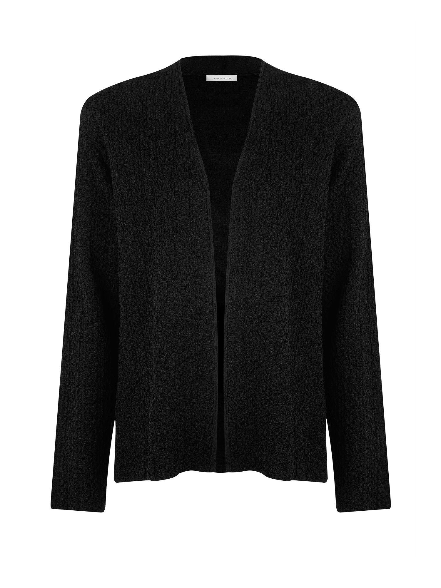 Black textured cardigan