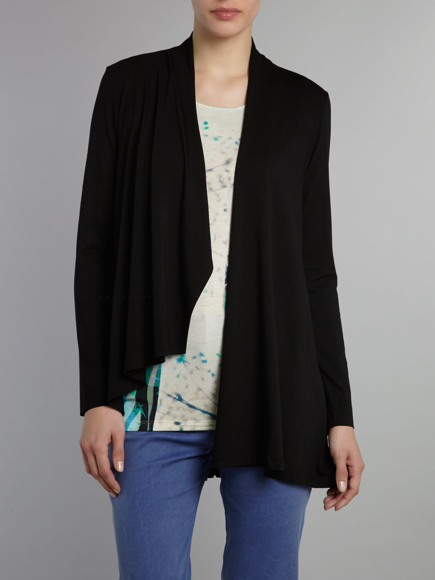 Pleat back drape jacket