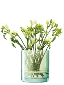 LSA Polka vase, apple green, 18cm