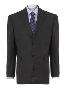 Howick Tailored Bank Thick Herringbone stripe suit jacket