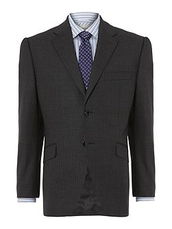 Bank Thick Herringbone stripe suit jacket