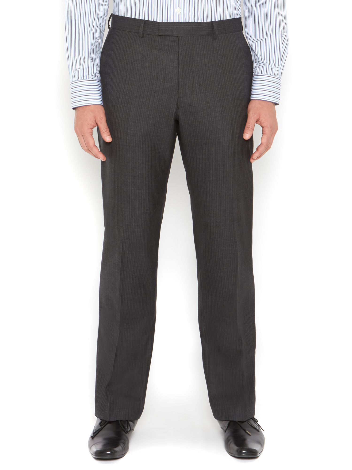 Bank Thick Herringbone Stripe Suit Trouser