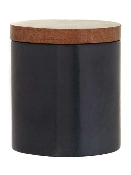 Casa Couture Soapstone and wood storage jar